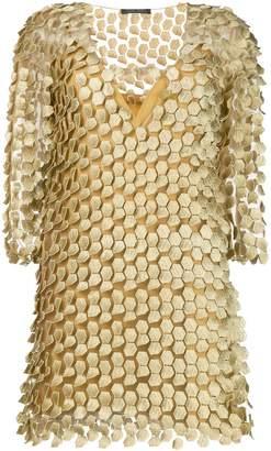 Alberta Ferretti appliqué design mini dress