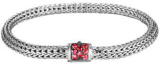 John Hardy Classic Chain Extra Small Red Sapphire Bracelet