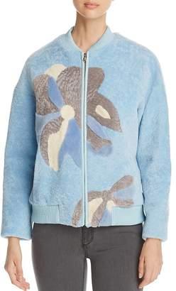 Maximilian Furs Floral Lamb Shearling Coat - 100% Exclusive