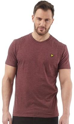 Lyle & Scott Vintage Mens Crew Neck T-Shirt Claret Marl