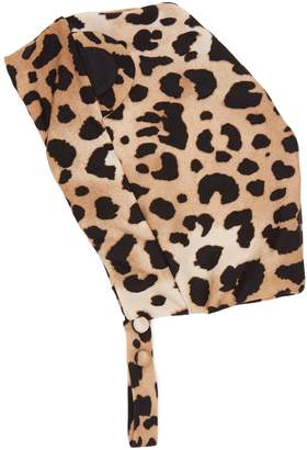 Charlotte Olympia ADRIANA DEGREAS X leopard-print swim cap