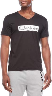 Calvin Klein V-Neck Logo Block Tee