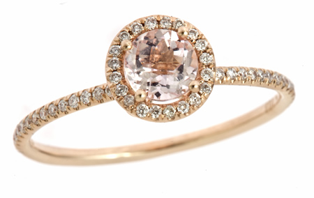 Meira T Diamond Morganite Ring