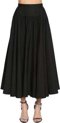 Calvin Klein Cotton Poplin Midi Skirt