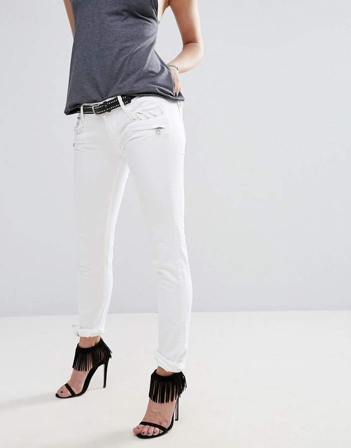 ReplayReplay Brigidot Biker Jeans with Zips and Pocket Detail