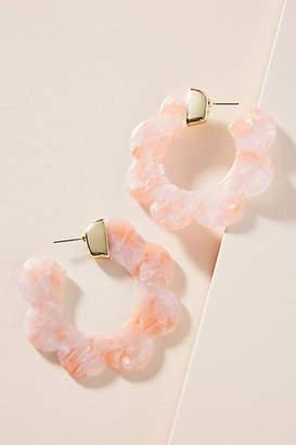 Anthropologie Dorin Scalloped Hoop Earrings