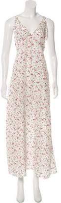 R 13 Silk Floral Print Slip Dress