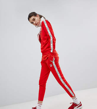 Puma Exclusive To ASOS Taped Side Stripe Track Pants In Red
