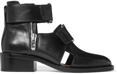 3.1 Phillip Lim 3.1 Phillip Lim - Addis Buckled Leather Ankle Boots - Black