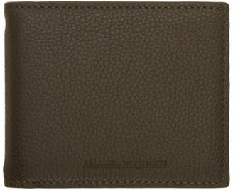 Alexander McQueen Green Money Clip Bifold Wallet