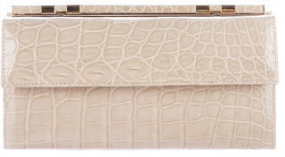 Judith Leiber Alligator Continental Wallet $495 thestylecure.com