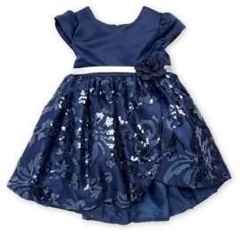 My Princess Wear Little Girl's Sequined Capsleeve Dress