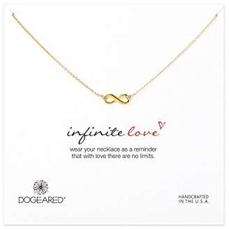 Dogeared Infinite Love Gold Plated Infinity Necklace 45.72cm