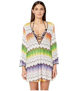 Missoni Mare Wave Placed Print Tunic Cover-Up