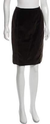 Ralph Rucci Velvet Knee-Length Skirt