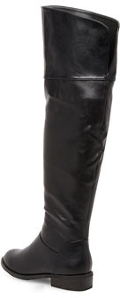 Dorothy Perkins Black over the knee boots