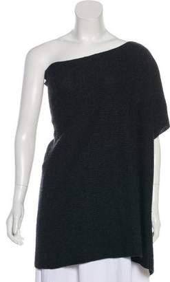 Vince One-Shoulder Wool Top