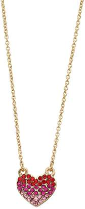 Lauren Conrad Simulated Crystal Heart Necklace