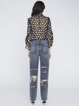 Alice + Olivia JULIUS POLKA DOT BLOUSE