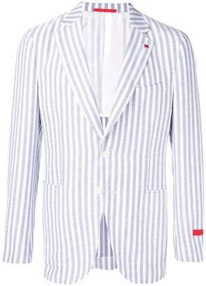 Isaia striped tailored blazer jacket
