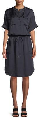 Lafayette 148 New York Benson Luminous Cloth Shirt Dress
