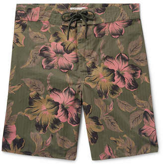 Ralph Lauren RRL Long-Length Printed Cotton-Blend Swim Shorts