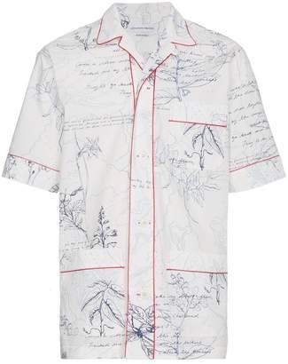 Alexander McQueen explorer print short sleeve shirt