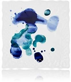 Richard Ginori Splatter-Painted Extra-Small Square Plate