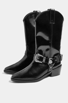 Topshop Womens Bingo Western Boots