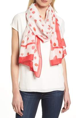 Kate Spade Tossed Berry Cotton & Silk Scarf