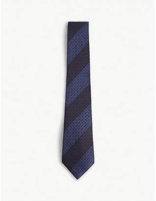 Canali Diagonal-stripe silk tie