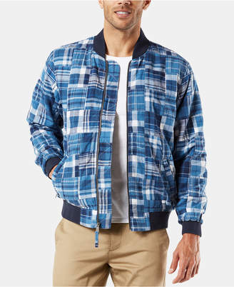 Dockers Men Patchwork Bomber Jacket
