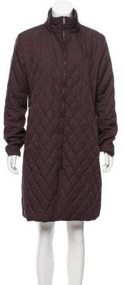 Burberry Quilted Mock Neck Coat