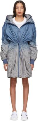adidas by Stella McCartney Blue and Grey Train Parka Coat