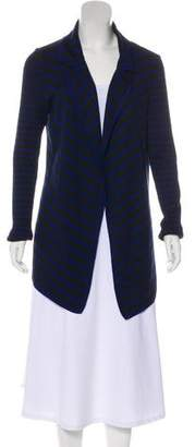 St. John Striped Wool-Blend Cardigan
