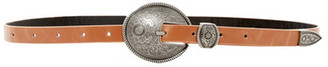 Raina Belts Outliner Round Buckle Strap Belt $90 thestylecure.com