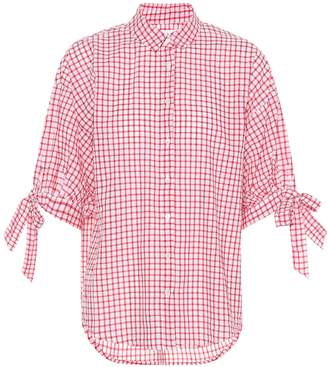 Velvet Priya checked cotton top
