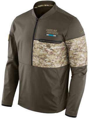 Nike Men's Carolina Panthers Salute To Service Hybrid Half-Zip Jacket