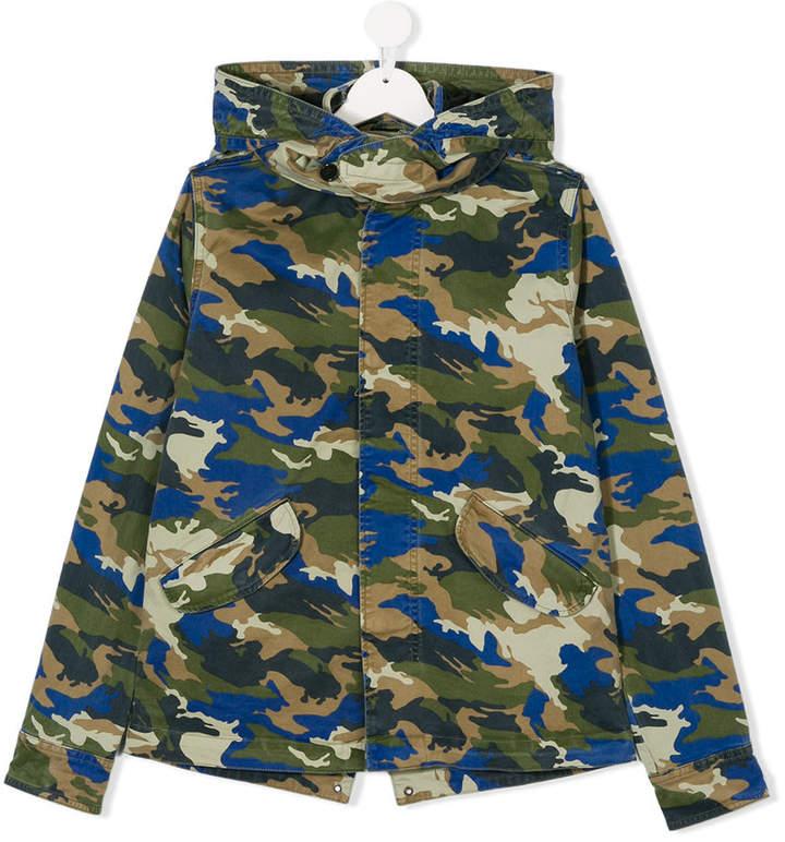 Zadig & Voltaire Kids Camouflage-Jacke mit Kapuze