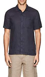 Blank NYC Blanknyc Men's Linen Shirt-Navy Size M