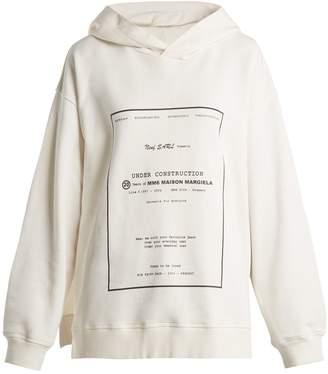 MM6 MAISON MARGIELA Oversized printed hooded sweatshirt