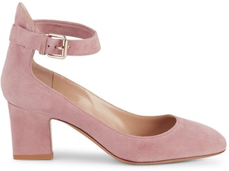 Valentino Suede Ankle Strap Pumps