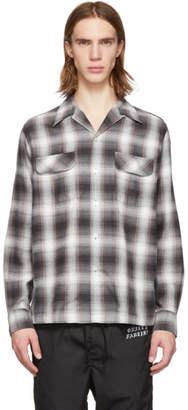 Wacko Maria Brown Ombre Check Open Collar Shirt