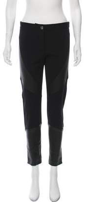 Givenchy Leather-Accented Skinny Pants