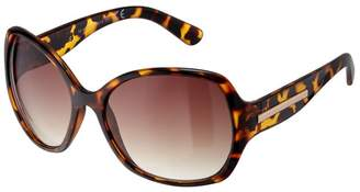 aed48590c0d Boots Ladies Large Wrap Brown Tortoiseshell Sunglasses with Metal Temples
