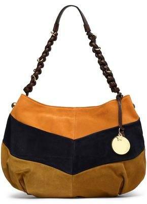 See by Chloe Maddie Color-Block Suede Shoulder Bag