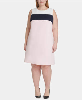 Tommy Hilfiger Plus Size Colorblocked A-line Dress