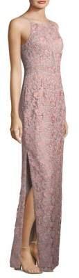 Aidan Mattox Lace Column Dress