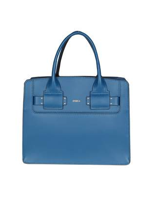 Furla Lucky S Bag In Blue Color Leather