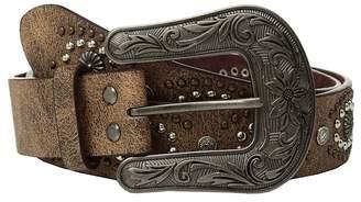 M&F Western Cluster Studs with Copper Buckle Belt Women's Belts